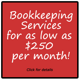 Bookkeeping Services for as low as $250 per month